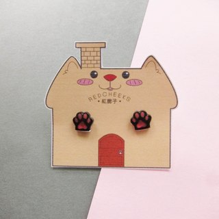 Small cat meat ball earrings Ear