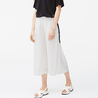 Tencel Cotton Wide Pants - White