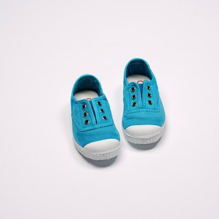 Spanish nationals canvas shoes CIENTA children's shoes washed old sapphire blue incense shoes 70777 16