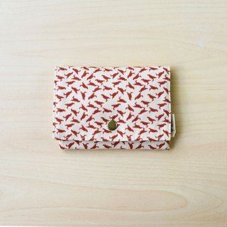 Tissue Paper Handy Pauch / Crested Myna No.4 / Earth Pink