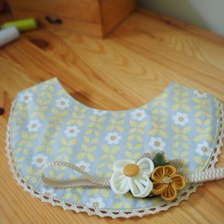 Handmade Elastic Headband and bib set