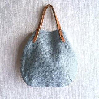 Jute (100% hemp) and round tote bag of extremely thick oil nuts S-size 【saxophone】