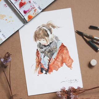 Chiao Ji hand-painted watercolor - Custom portraits - [frame / single]