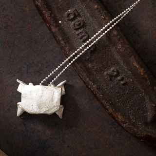 Origamini Small Sterling Silver Crab Necklace 925 Silver Crab Necklace