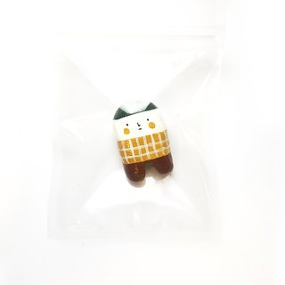 Teeth series hand made clay brooch