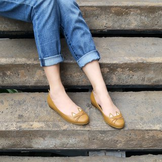 Wanna Cat Flat Shoes - Brown
