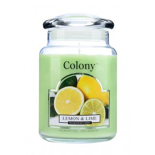 British Candle Colony Lemon & Lime Glass Canned Candles