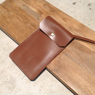 Mobile phone case, mobile phone case. Strap hanging neck card, hanging chest, leather, iphone [caramel brown