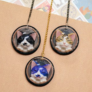 Q version closed eye Mex cat × space bag charm × custom color MixCat