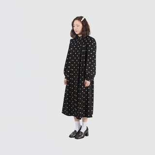 [Egg Plant Vintage] Arctic Bubble Print Umbrella Vintage Dress
