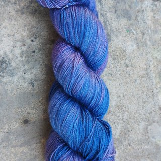 Hand dyed lace thread. Storm (55 BFL/45 Silk)
