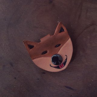 Cute Shiba pure leather hub (made lover, birthday gift)