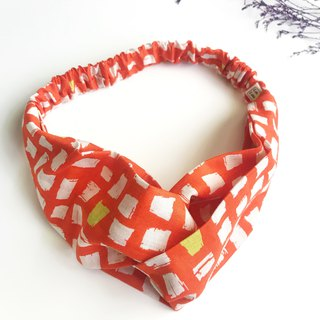 Thick and thin cross hair band - orange