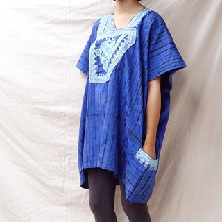 BajuTua / Vintage / Royal Blue West African Traditional Batik Top