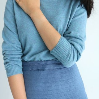 Cielo Sweater (more colors / sizes available) Gray Flower Blue Kashmir Wool Sweater (can be customized for other colors)