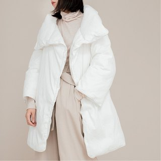 Mid-long paragraph white a warm quilt fill heavy warm down jacket neutral couple men and women with the same paragraph in the winter after a fire day there is no | vitatha Fan Tata original design independent women's brand