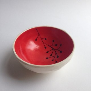 Small bowl (plant) red small bowl (plants) red