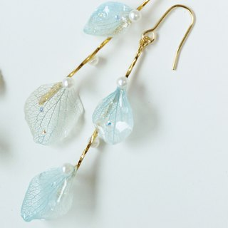 Swarovski raindrops and hydrangea earrings or earrings