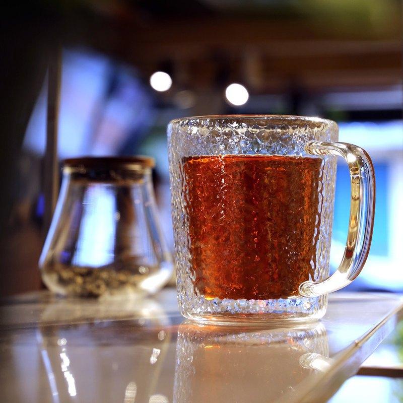 雙層玻璃 鎚目紋馬克杯(450ml)
