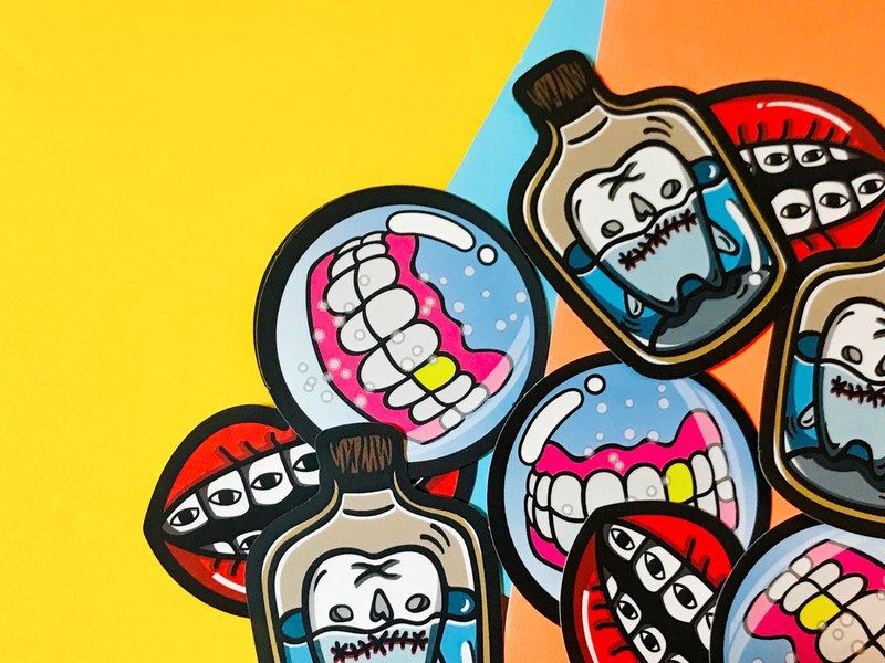 Toothed - Combination / Sticker