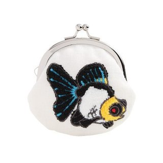 Jingdong [are] KYO-TO-TO goldfish シ an have DANGER _ butterfly tail goldfish (White) (ki san ta ro u) Purse