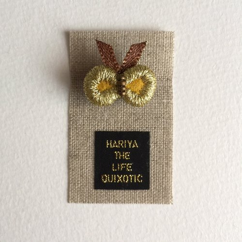 Small butterfly brooch (mustard)