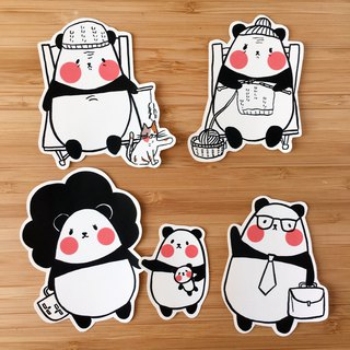 Bamboo Forest Deep Panda Big Sticker Set
