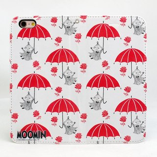 "Moomin Moomin genuine authority - Magnetic phone holster: [red umbrella (white)] ""iPhone / Samsung / HTC / ASUS / Sony"""