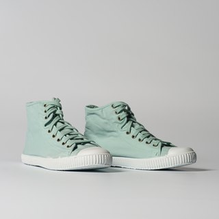Spanish canvas shoes high tube light green fragrance shoes 61997 50