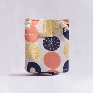 Japanese Fabric: Rick Rack Point Small Cylindrical Bag