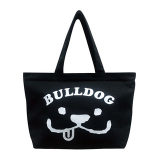 LM000080-MARU Smile Tote Bag (Black)