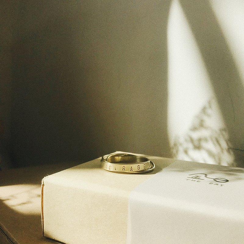The Power of Words / Customized Three Rings-Brass
