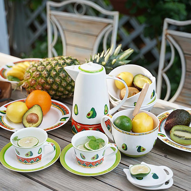 Mexican Avocado Series Bone China Afternoon Tea Gift Box [various combinations available]