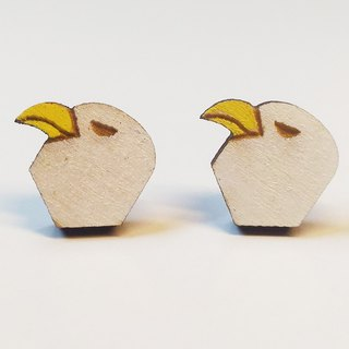 [Cool Eagle] color paste wooden earrings