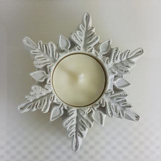 egbhouse, Snowflake NO9 Cement candle holder
