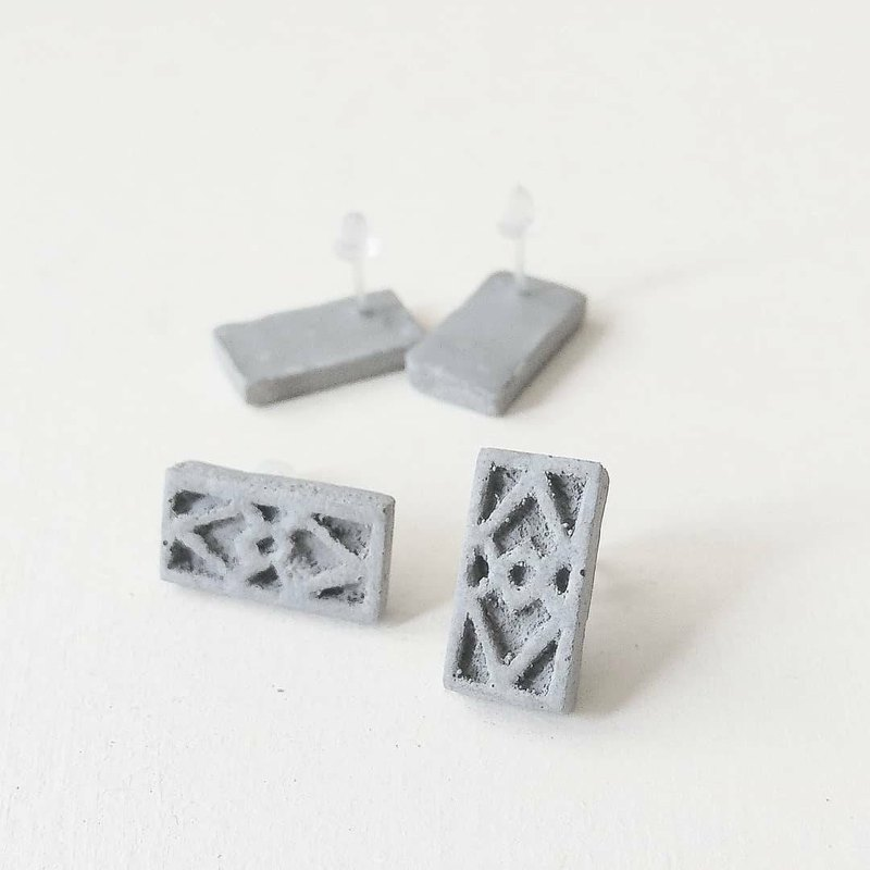 Cement Window Earrings #1
