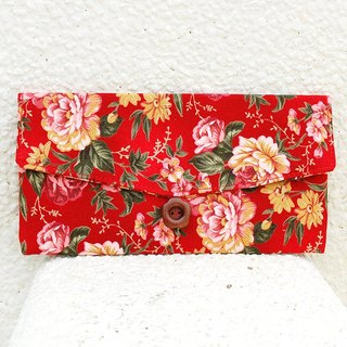 Romantic peony red envelope bag