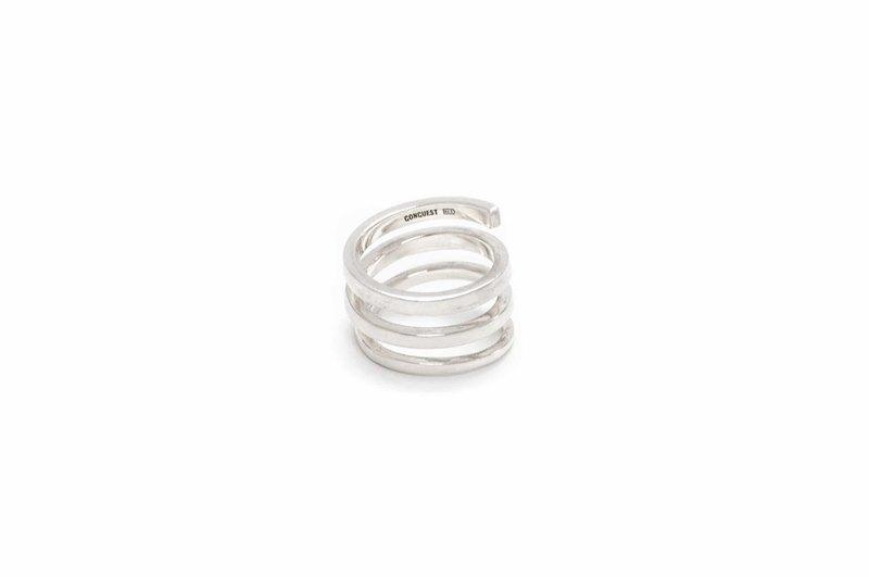 Coil ring 925純銀三線圈戒指