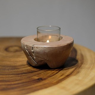Teakwood tealight holder