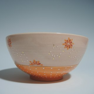Flower Show Series: Pink Orange Petal Bowl
