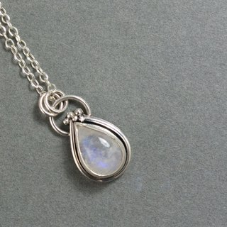 Moonstone sterling silver plaque Rainbow moonstone silver pendant