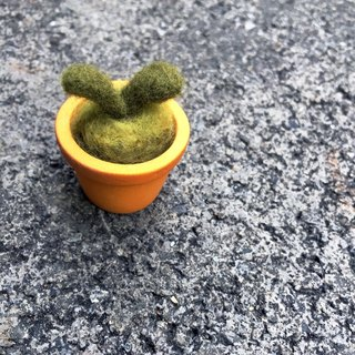 Handmade wool felt - little plant