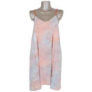Uneven dyeing camisole Beach Dress <Peach gray>