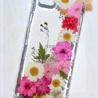 Pressed flowers phone case, iPhone 6 plus, iPhone 6S plus, Colorful