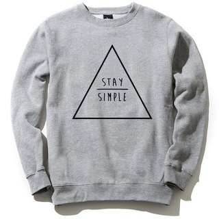 STAY SIMPLE Triangle (Spot) University T bristle gray to maintain a simple triangle geometric design their own brand trendy circle Youth Hipster