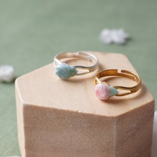 Mini Rosette Ring =Flower Piping= Customizable