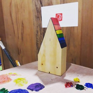 【Wood】 small wood wood painting fun + memo folder