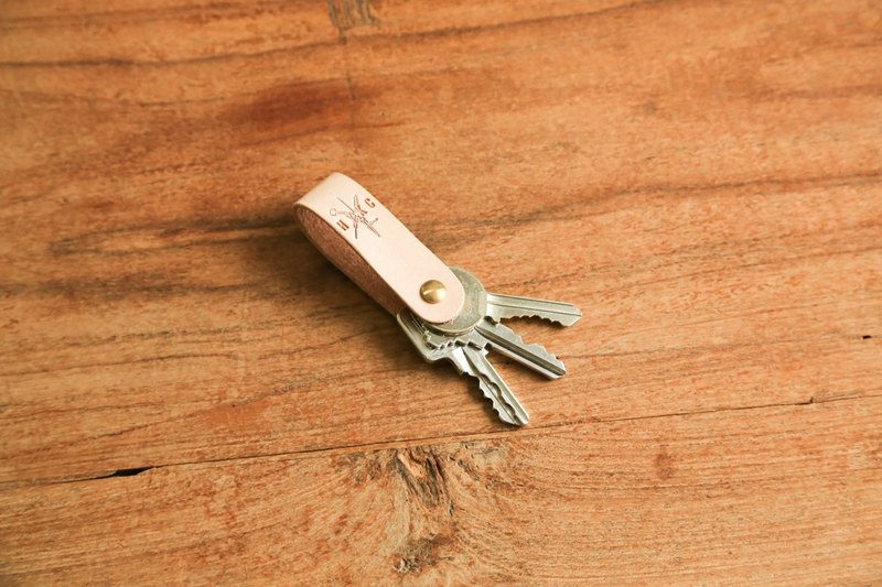 hykcwyre 黃銅鈕鑰匙圈鑰匙環, 簡約匙扣, 可客製, 可刻字