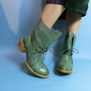 Thick with the tube cowboy boots || Bremen winter plum green || # 8085