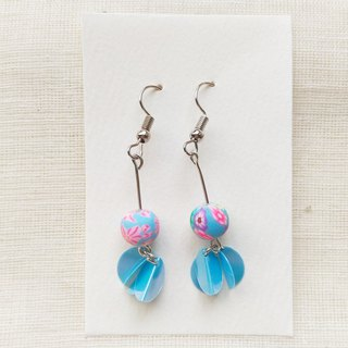 翩翩 Petals handmade earrings (Ocean series)